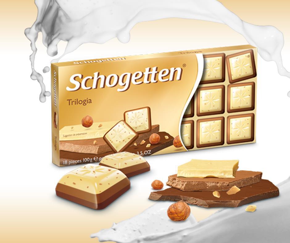 Schogetten čokolada Trilogia-tri savršena ukusa u jednom zalogaju