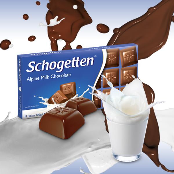 Schogetten čokolada sa alpskim mlekom - jednostavna i savršena
