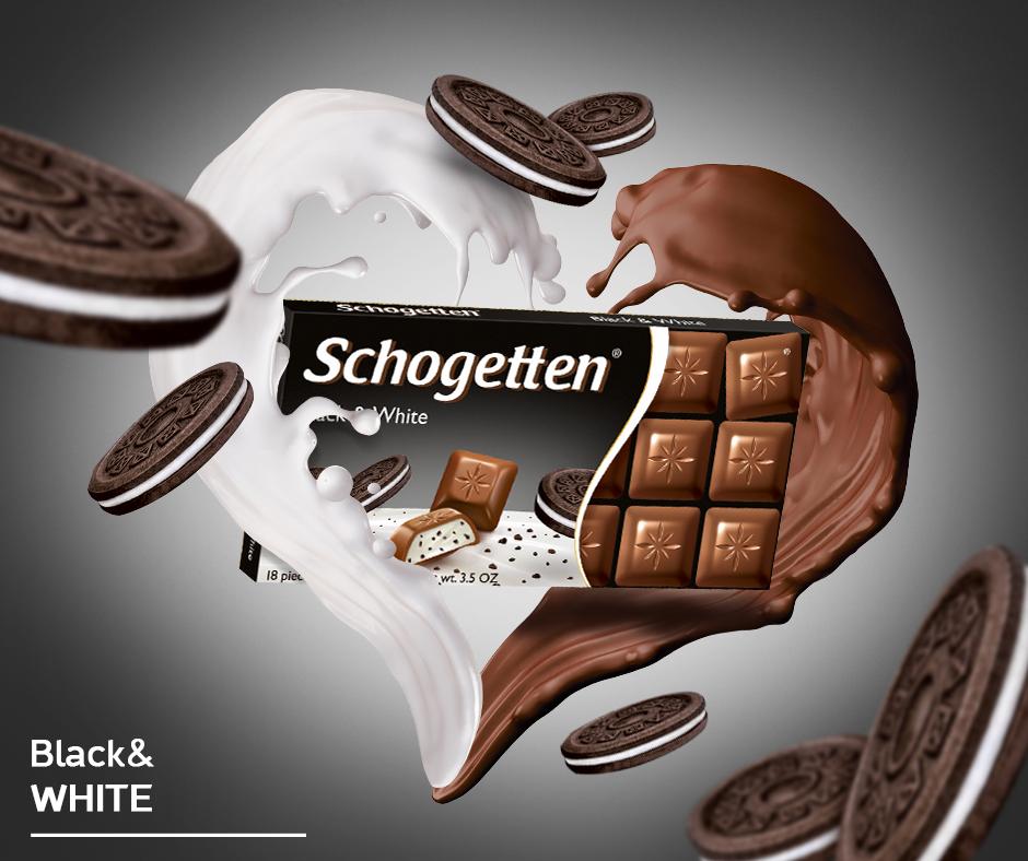 Schogetten čokolada Black&White 100gr