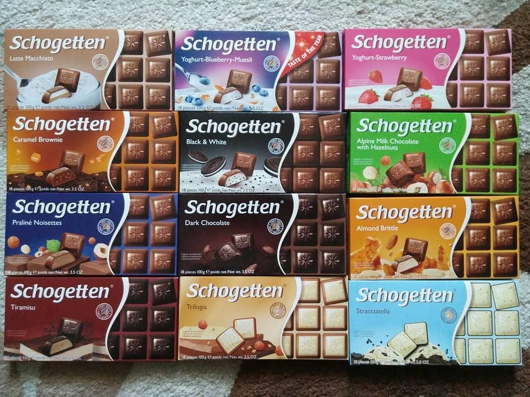 Schogetten čokolade – širok izbor za prave sladokusce