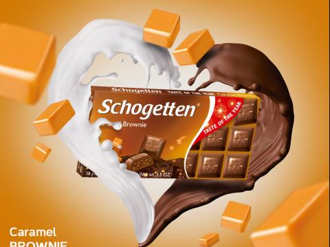 Schogetten čokolada Caramel Brownie 100gr