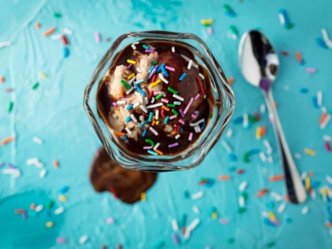 Domaći sladoled sa tamnom čokoladom