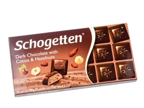Schogetten tamna čokolada sa kakao i lešnik kremom 100g
