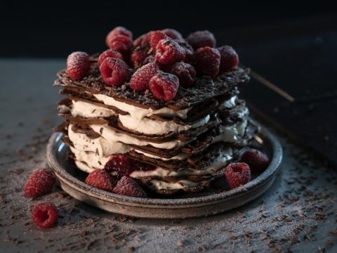 Čokoladna torta sa malinama