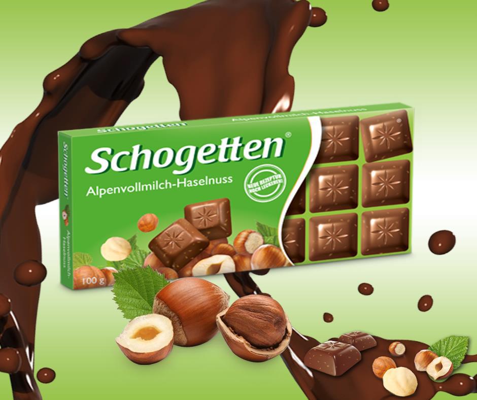 Schogetten čokolada sa lešnicima i alpskim mlekom - neodoljivo hrskavo iskustvo