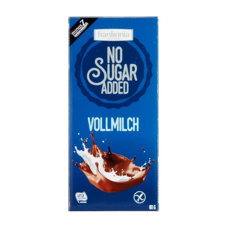 Frankonia No Sugar Added Vollmilch 80g
